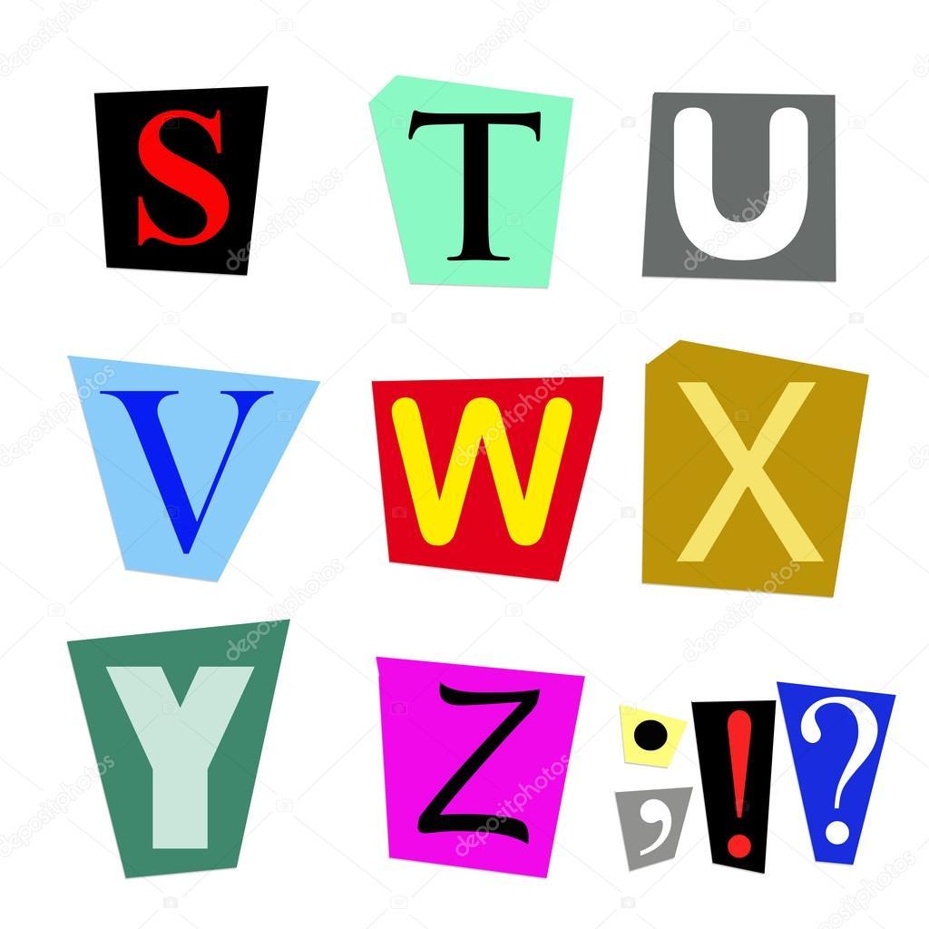 D couper les lettres s z photographie buecax 77920156 - Lettre a decouper ...
