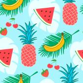 Fotografie Fruits vector pattern