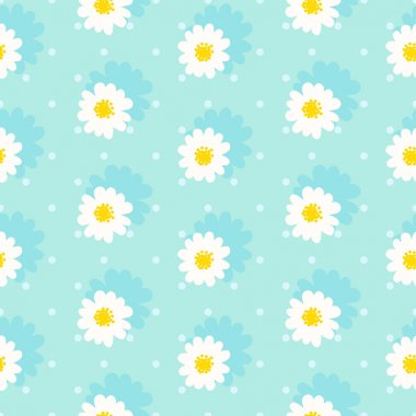 White daisy seamless pattern