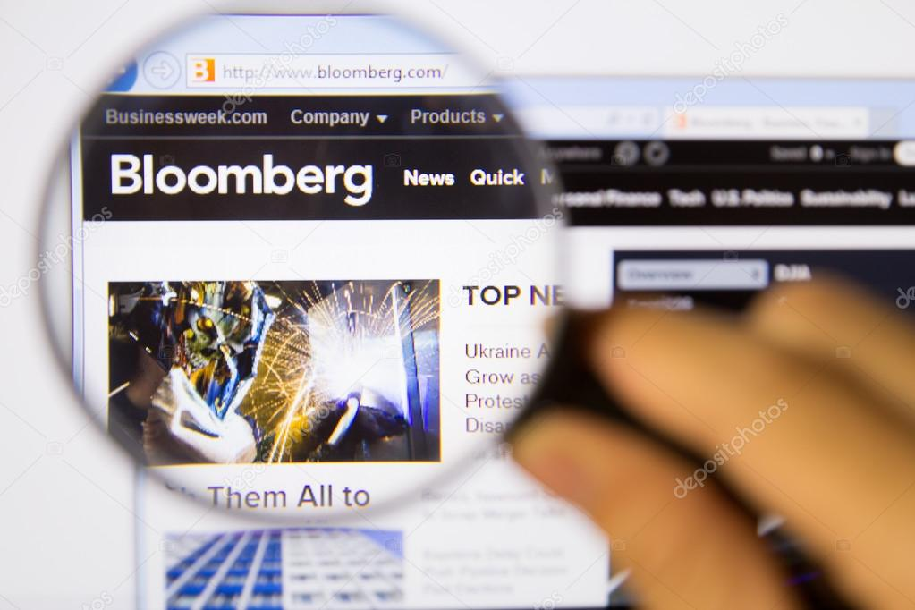 Bloomberg website form monitor – Stock Editorial Photo ...