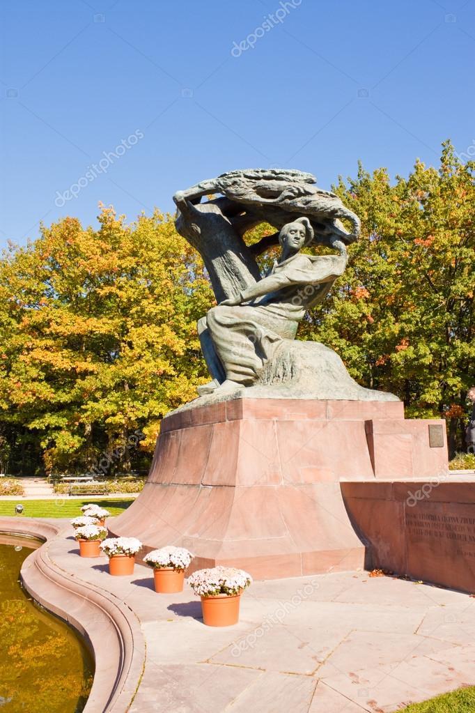 Pomnik Fryderyka Chopina W Parku łazienkowskiego Warszawa