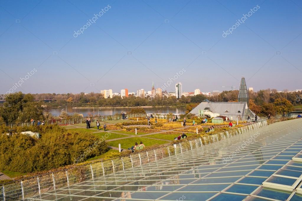 Jardin sur le toit de l immeuble cologique moderne de l 39 universit photo ditoriale - Immeuble ecologique ...