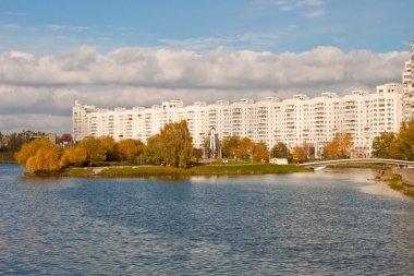 View of The Island of Tears in Minsk, Belarus
