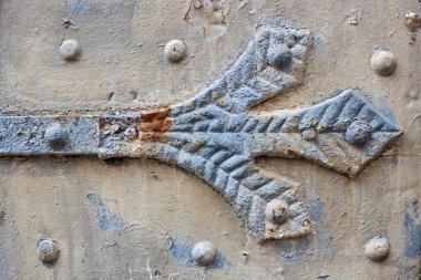 Detail of an old weatherd door