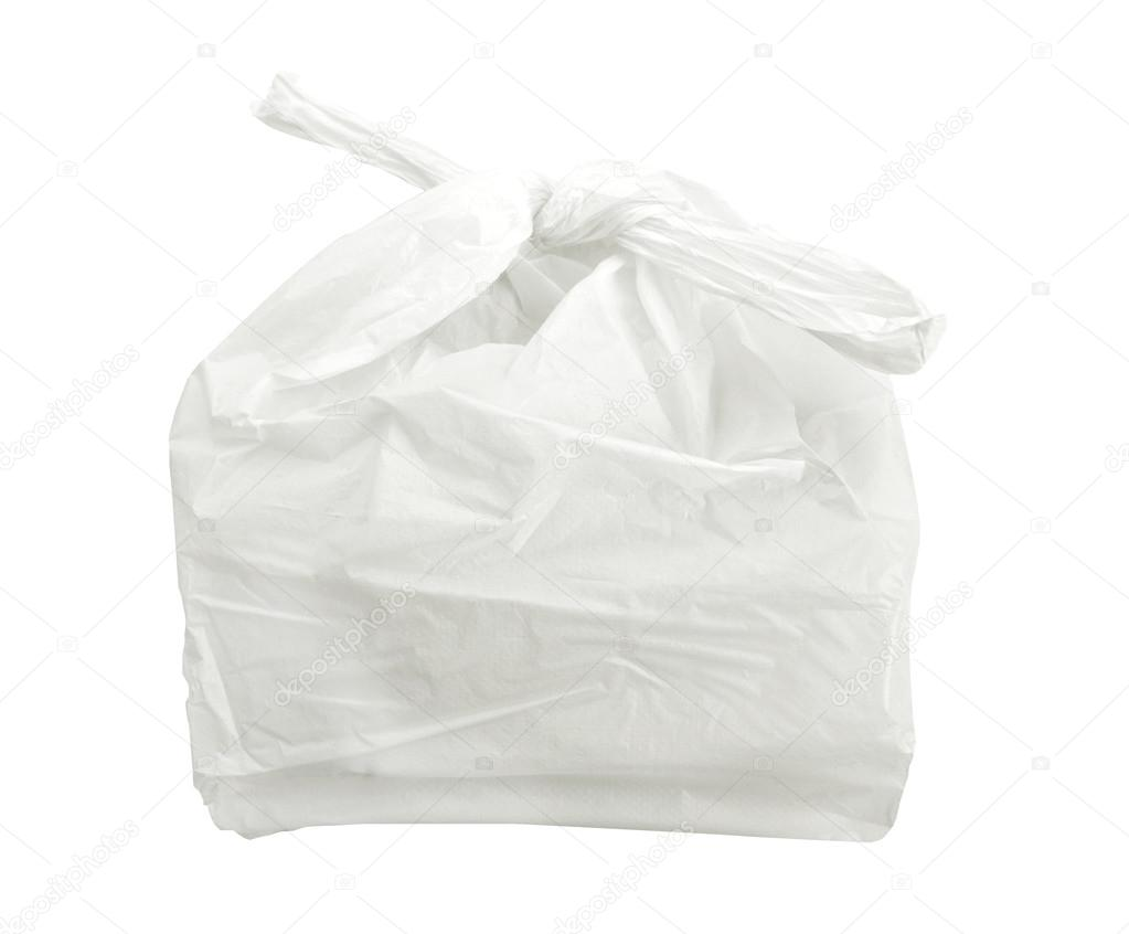 witte plastic zakken