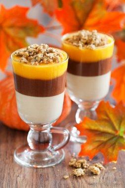 pumpkin chocolate crumble dessert