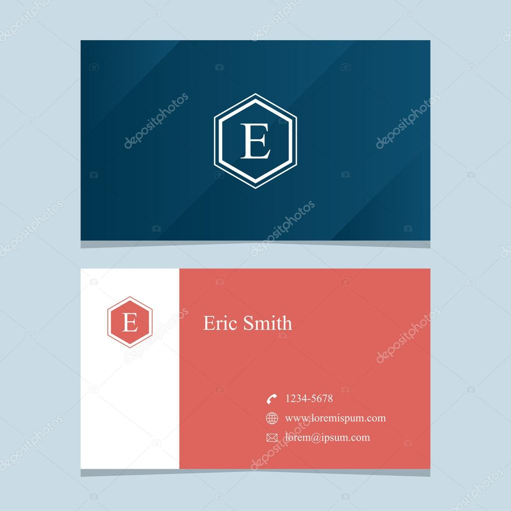 Logo alphabet letter e with business card template stock logo alphabet letter e with business card template vector graphic design elements for company logo vector by thecorner spiritdancerdesigns Choice Image