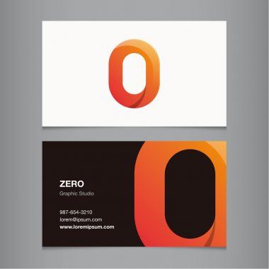 Business card with number.