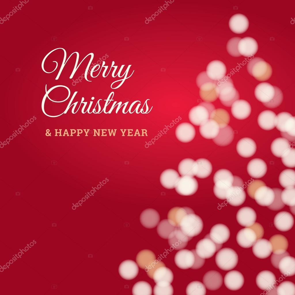 Buon Natale Glitter.Buon Natale E Felice Anno Nuovo Carta Albero Di Natale Sfondo