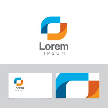 Abstract logo with business card template