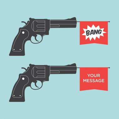 Toy gun illustration vector stock vector