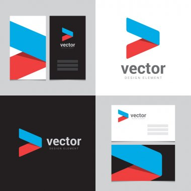 Design element with two business cards - 07
