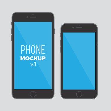 Phone mock up v1 clip art vector