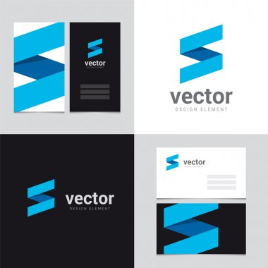 Logo design element with two business cards template - 28