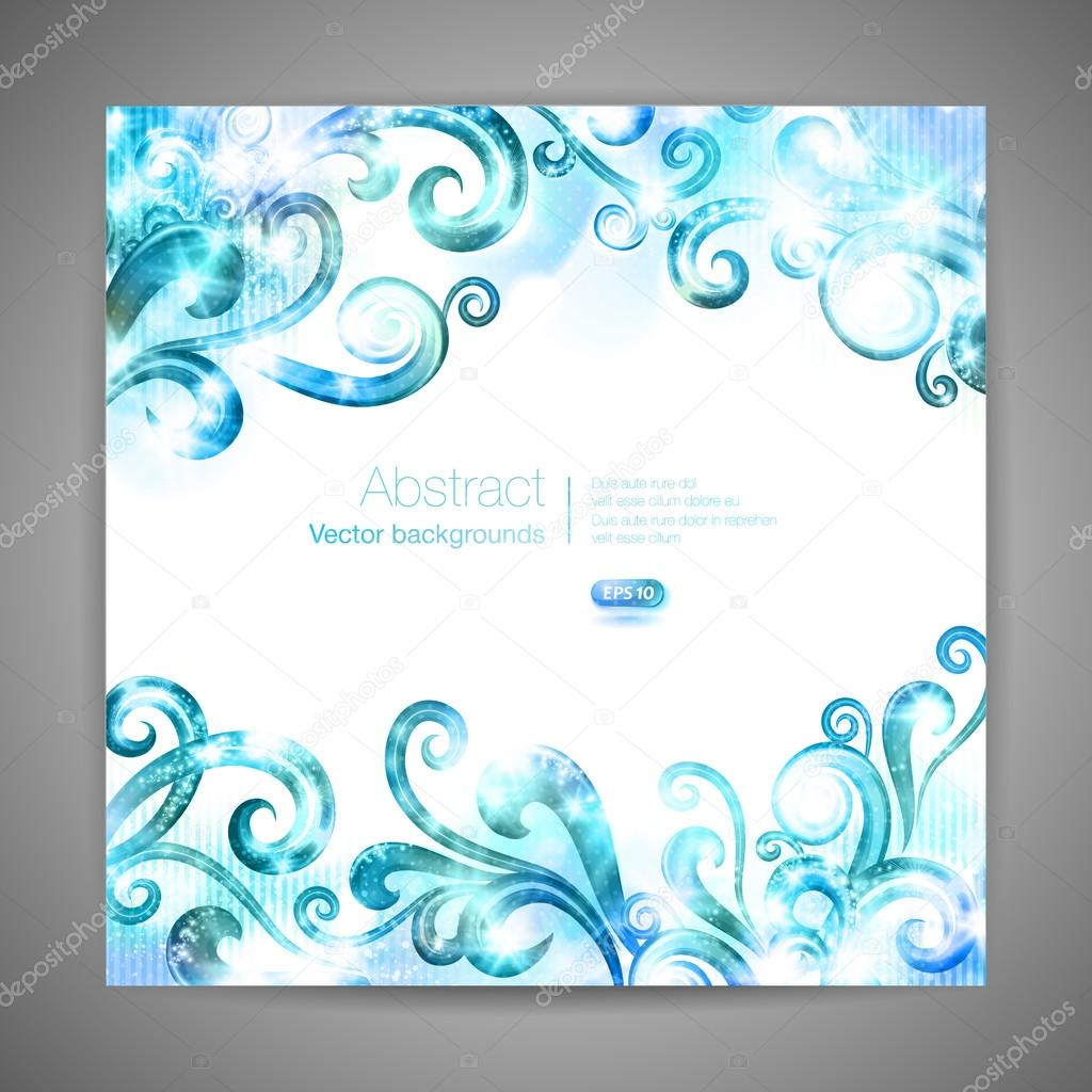 template with swirls stock vector lorelinka 51909761