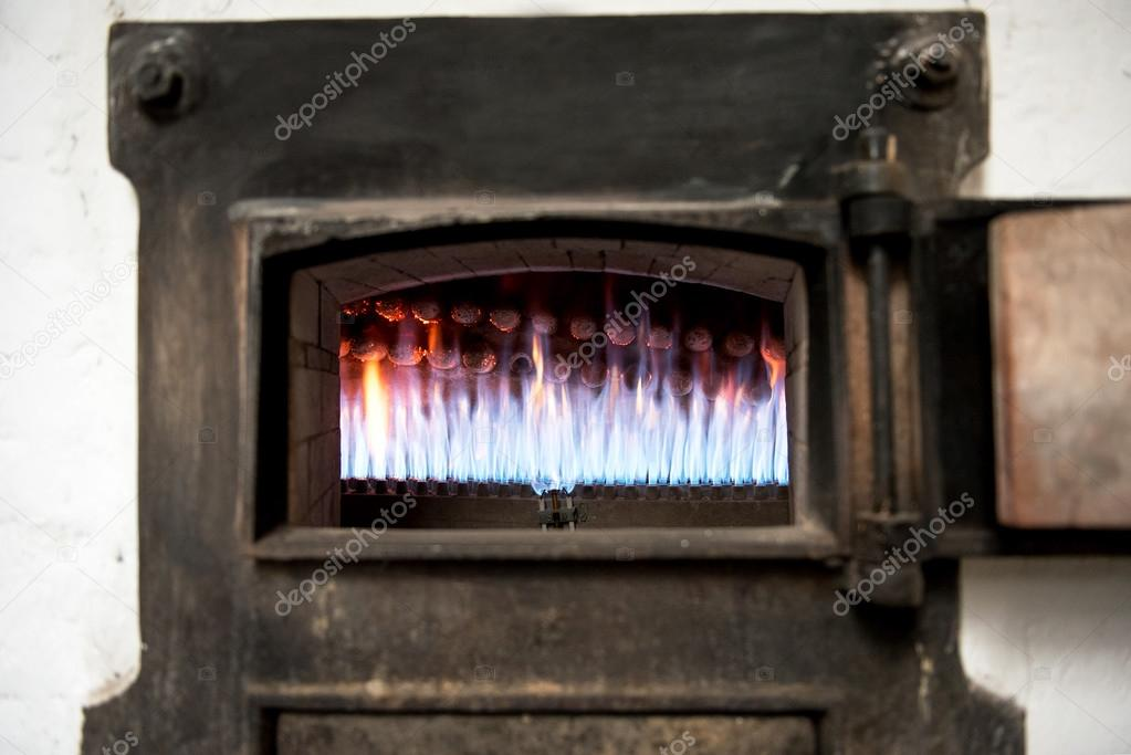 Burning Gas Jets In An Old Bakery Oven With Hot Blue Flames Viewed Through The Door Photo By PHOTOLOGY1971