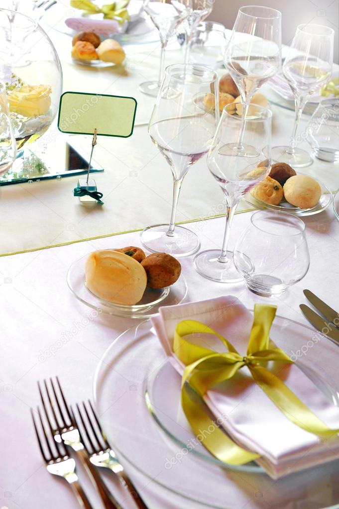 Formal luxury table setting for a catered event u2014 Stock Photo & Formal luxury table setting for a catered event u2014 Stock Photo ...