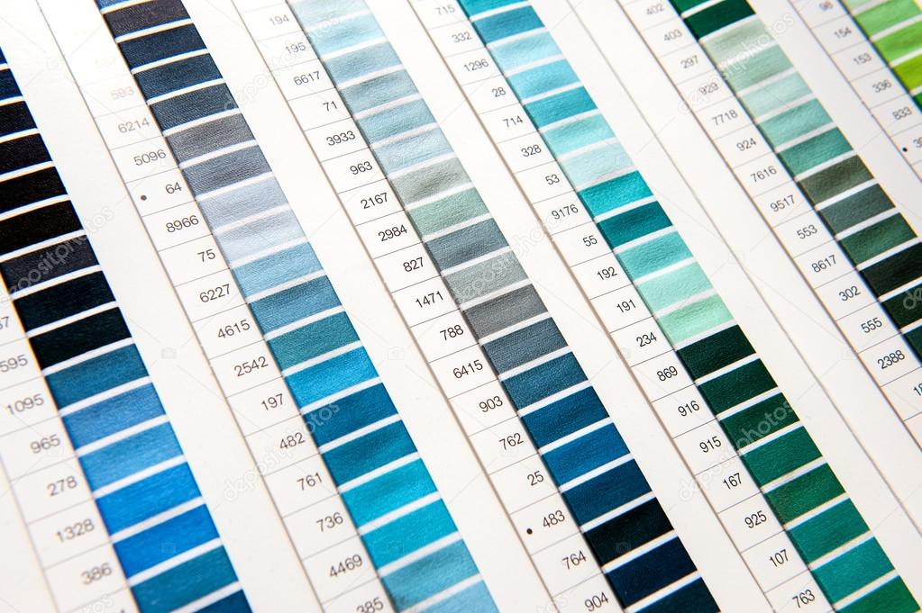 Detail Of Color Chart In Clothing Design Studio Stock Photo
