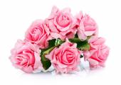 Photo bouquet of pink roses