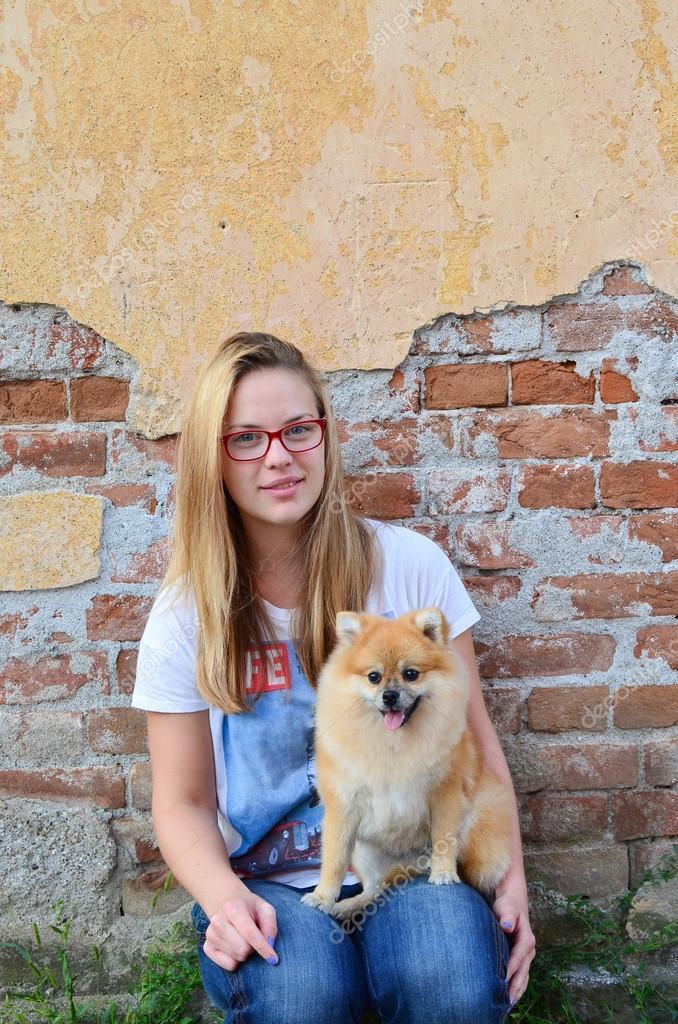 Next Door Girl And Her Pet Stock Photo Fotocodp 59323607