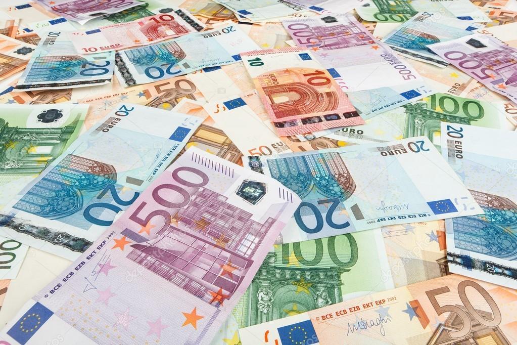 Papírové Peníze Eura. Pozadí Bankovek