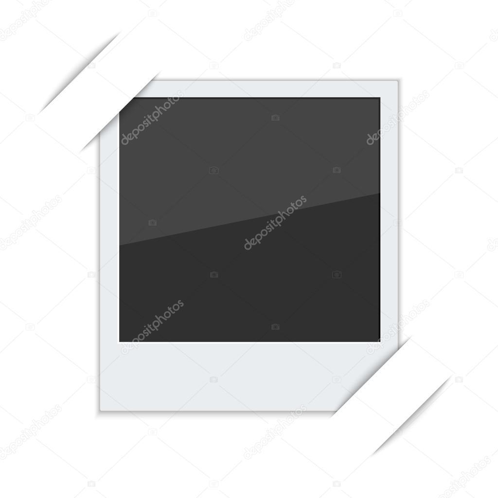Polaroid-Foto-Rahmen mit Dämpfer — Stockvektor © sumkinn #55002741