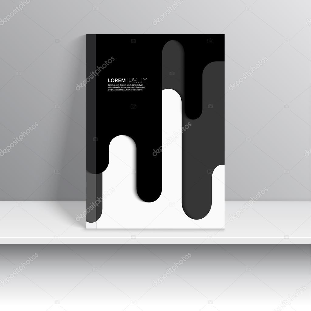 plantilla vector para portadas de revistas — Vector de stock ...