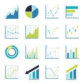 Fotografie Set statistics icon.