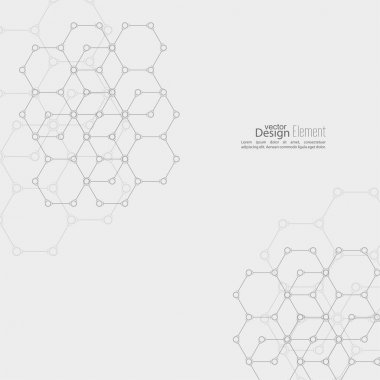 Abstract background with DNA molecule structure