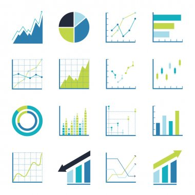 Set statistics icon. Graphic analysis and asset management. Information chart profits. Business efficiency and investment. finance data stock vector