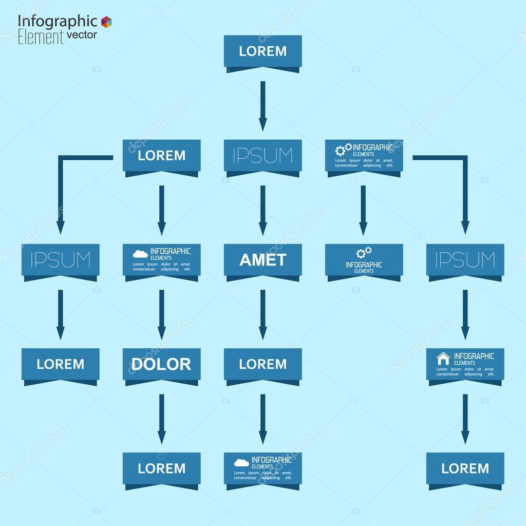 Plantilla de gráfico de organización corporativa con elementos ...