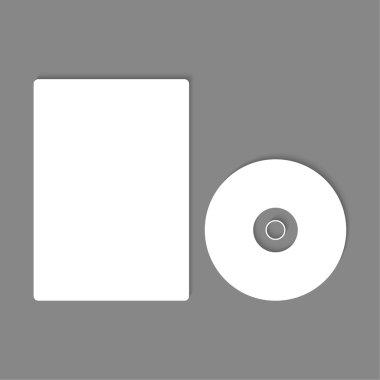 Blank CD, DVD mock up.