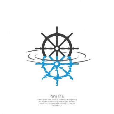 Business Abstract wheel ship  icon.