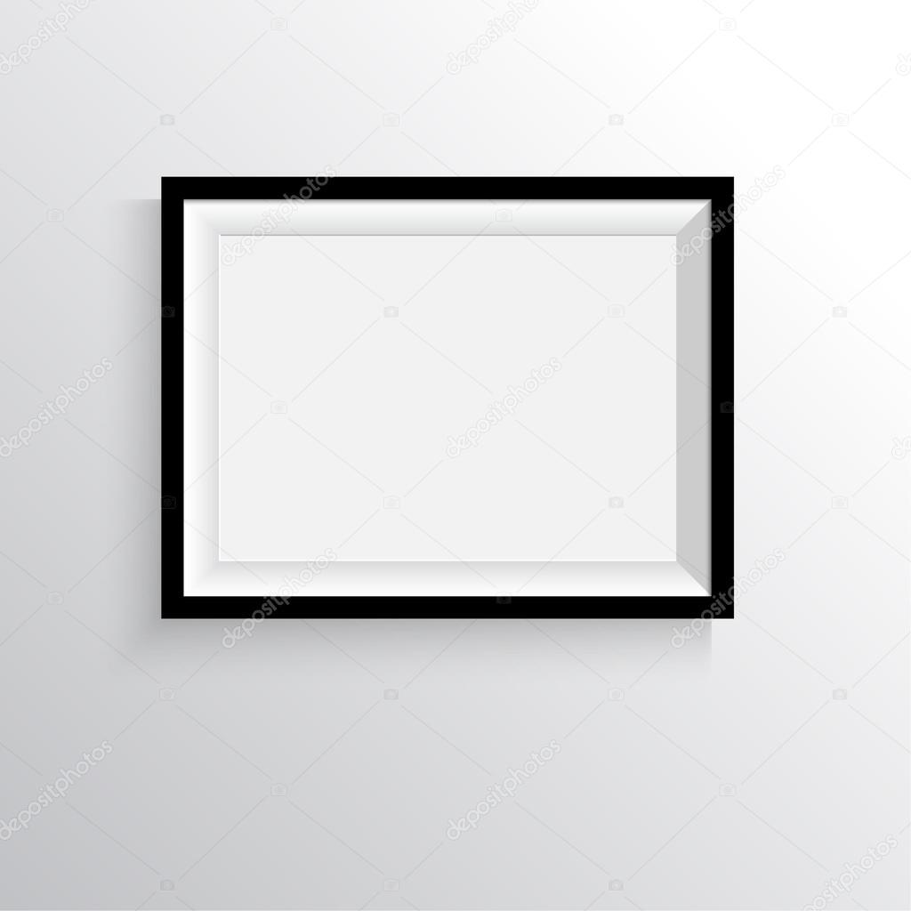 Marco negro para pinturas o fotografías en la pared — Archivo ...