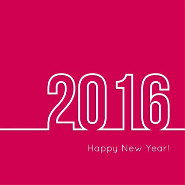creative happy new year 2016 design.