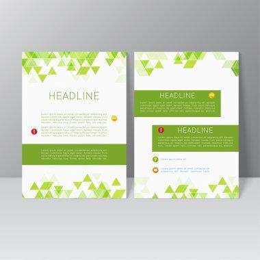 Vector brochure template design