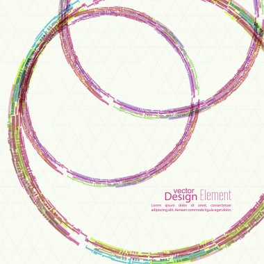 Abstract background with colored round hoops
