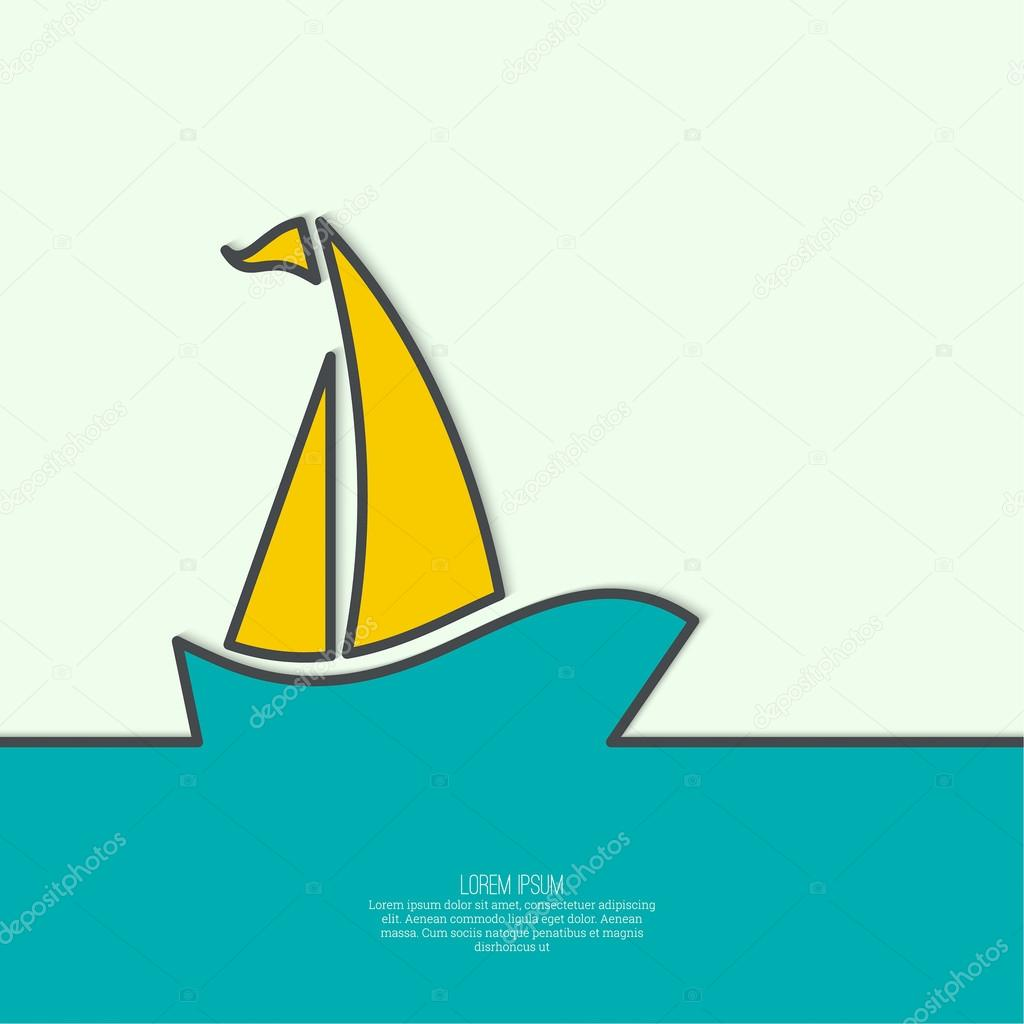 Sailboat sailing in the sea.