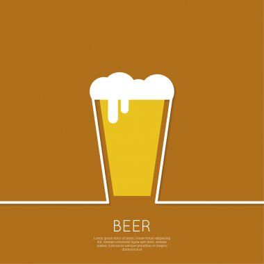 Abstract background with Beer glass