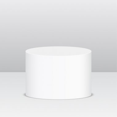 Round pedestal for display.