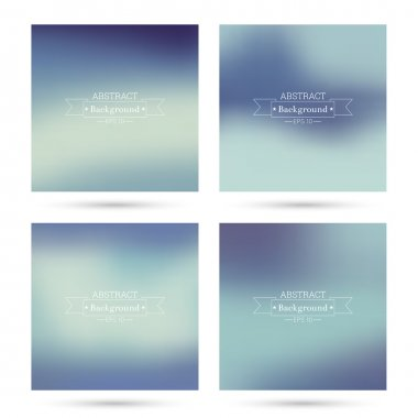 Set of vector colorful abstract backgrounds