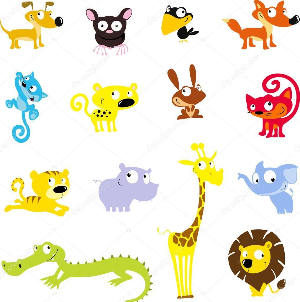 シンプルなかわいい動物のシンボル - ベクトル アイコン イラスト