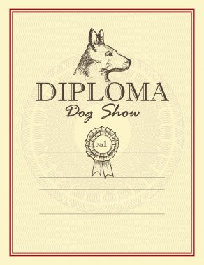 Vector Awards of dog show.