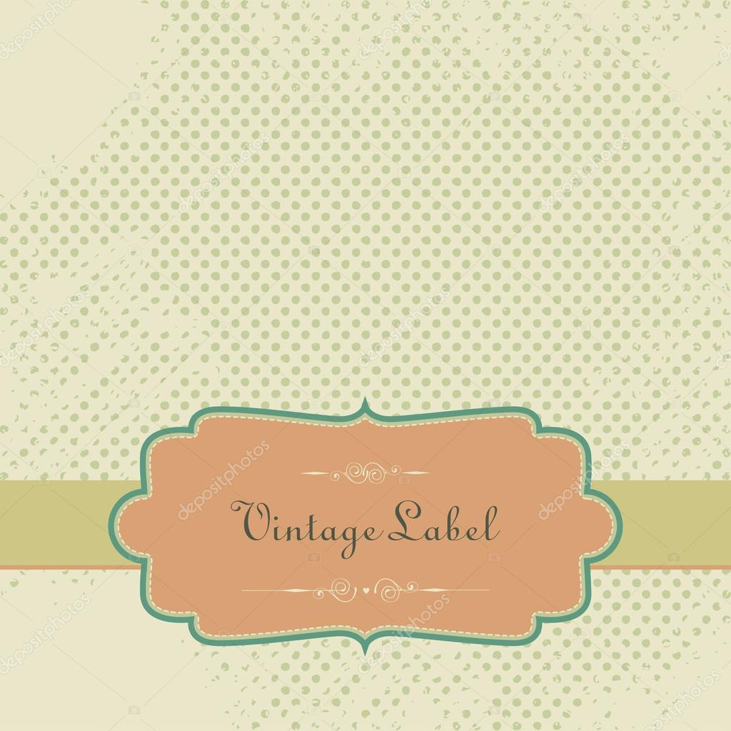 Vector Vintage Scrapbook Paper With Tag Stock Vector Freire