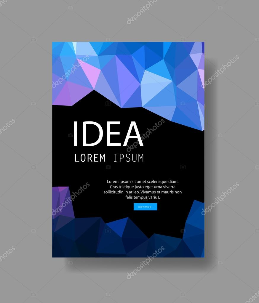 Modern brochure cover page layout easy editable — Stock Vector ...