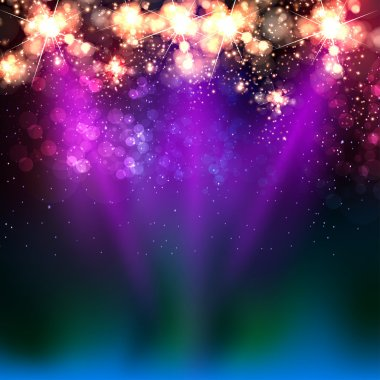 Neon color light stage background
