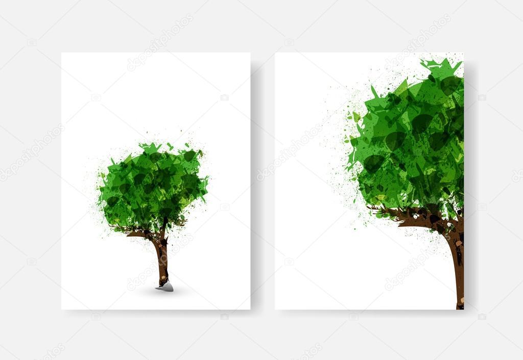 Tree of life illustration, easy editable