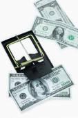 Csapda a dollár számlák elszigetelt fehér háttér felett, kockázat, üzleti, üzletember, figyelembe véve a pénzt egy egérfogó