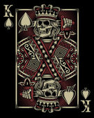 Lebka hrací karta