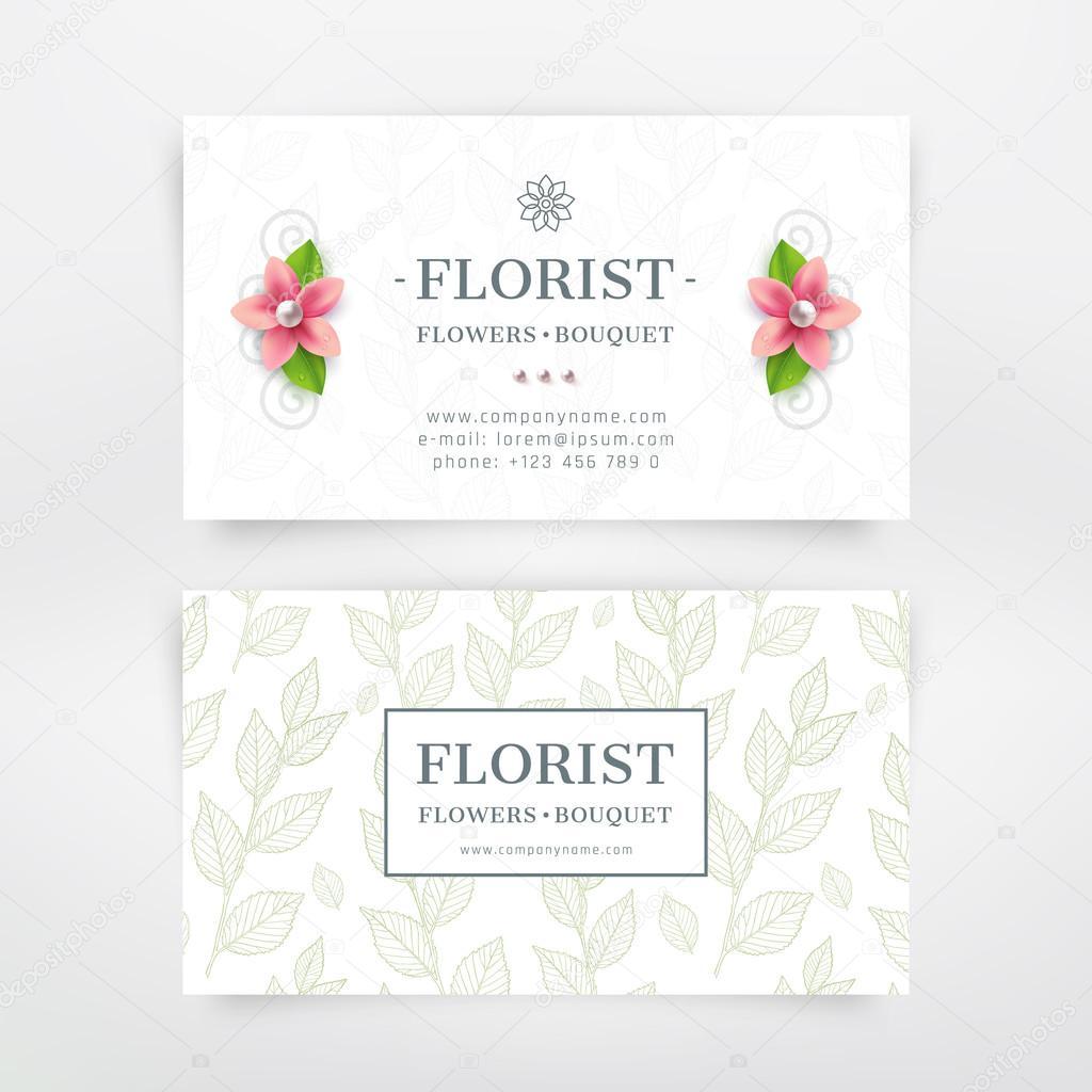 Florist business card — Stock Vector © garo_g #90058160